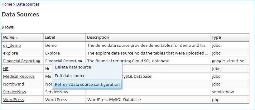 Configuring a Google Cloud SQL Data Source - Explore