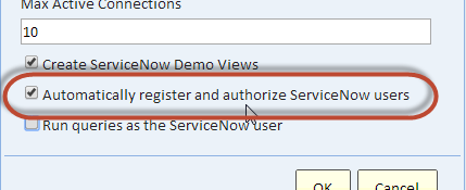 Configuring a ServiceNow Data Source - Explore Analytics